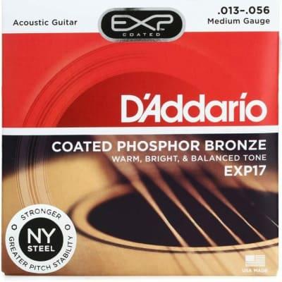 D'Addario EXP17 Coated Phosphor Bronze Acoustic Strings: 13-56 (Medium)