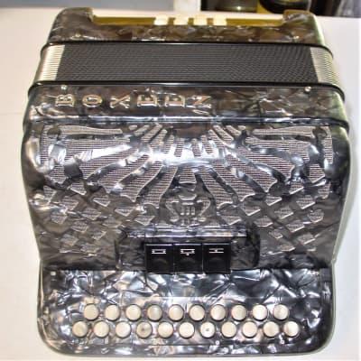Boxeen  Grey Marble 2 Row Irish Style Button Accordion Key of  D/C#