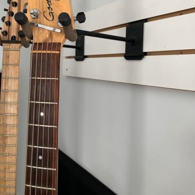 String Swing  Slat-wall guitar hanger  Black