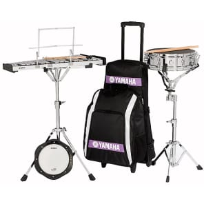 Yamaha SCK-275R Bell Kit and Snare Drum Combo Kit with Backpack, Rolling Case