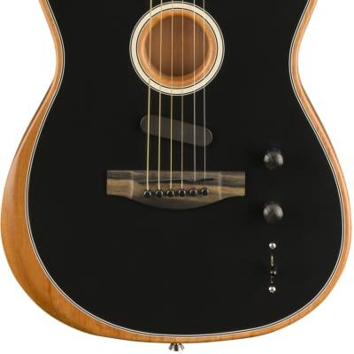 Fender American Acoustasonic Telecaster Black With Deluxe Gig Bag