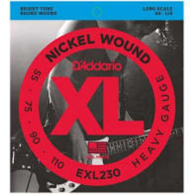 D'addario EXL230 Electric Bass XL Nickel Wound, .055 - .110 Bass Strings