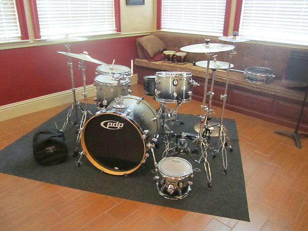 Pdp X7 Series Drum Set 2000 S Silver With Tons Of Reverb