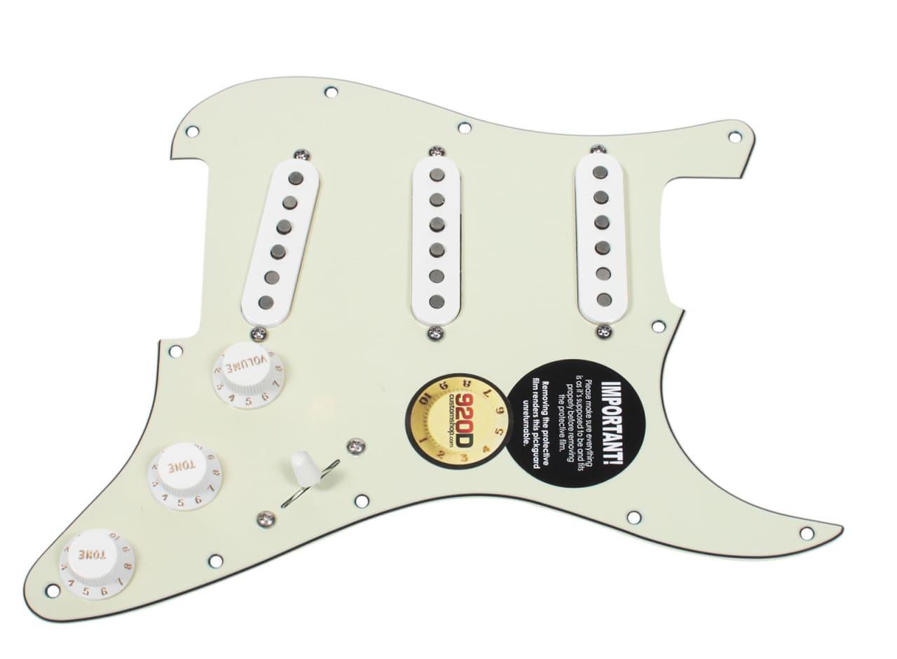 fender tex mex 920d loaded pre wired strat pickguard mg wh reverb. Black Bedroom Furniture Sets. Home Design Ideas