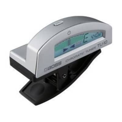 Boss TU-10 Clip-on Chromatic Tuner, Silver for sale