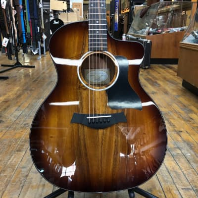 Taylor 224ce-K DLX All-Koa Grand Auditorium Acoustic-Electric Shaded Edgeburst w/Hard Case