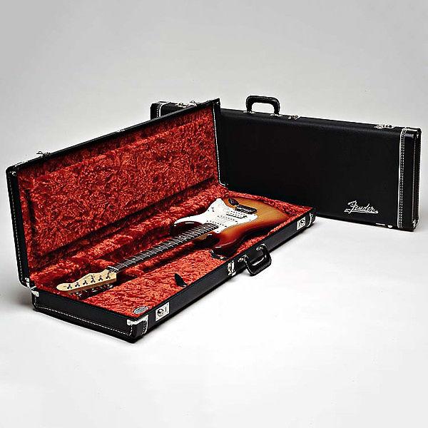 c537a094d1 Fender Deluxe Case Stratocaster/ Telecaster Black Tolex (Orange ...