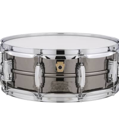 """Ludwig LB416K Hammered Black Beauty 5x14"""" Brass Snare Drum"""