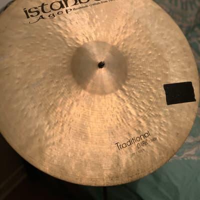 "Istanbul Mehmet 20"" Traditional Series Dark Crash Cymbal"