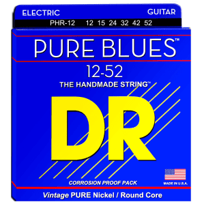 DR Strings PHR-12 Pure Blues Electric Strings - Jazz, 12-52 for sale