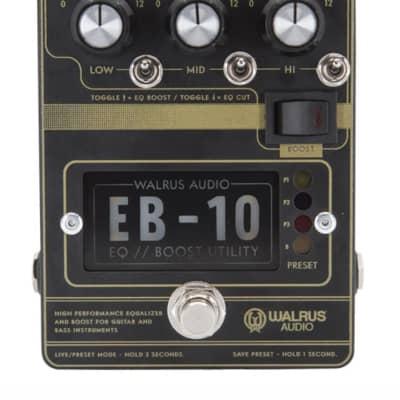 Walrus Audio EB-10 Preamp//EQ//Boost Pedal, Black for sale