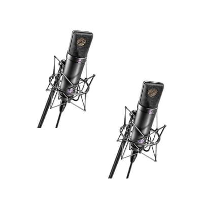 Neumann U 87 Ai MT Matched Stereo Pair Condenser Microphones (Black)