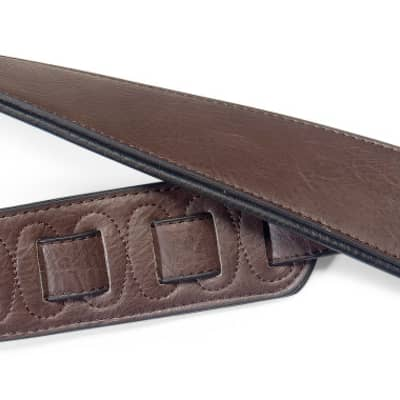 Stagg Dark Brown Padded Leatherette Guitar Strap