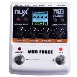 NUX Mod Force STEREO Modulation Pedal  Ships Free