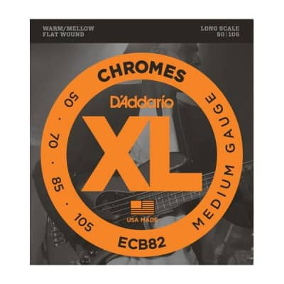 NEW D'Addario ECB82 Chromes Flatwound Bass Strings - Medium - .050-.100