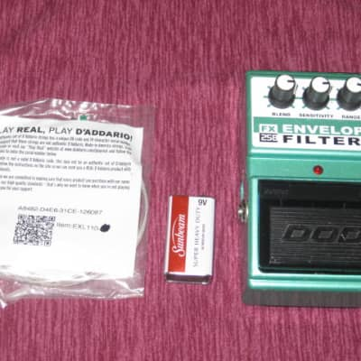used DOD FX25B Envelope Filter ANALOG for guitar & bass + battery & strings for sale