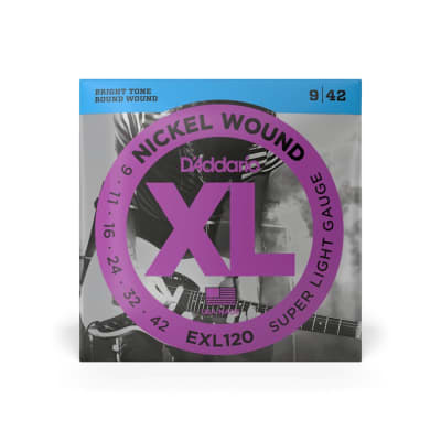 D'Addario EXL120 Super Light Gauge Nickel Wound Strings 9-42