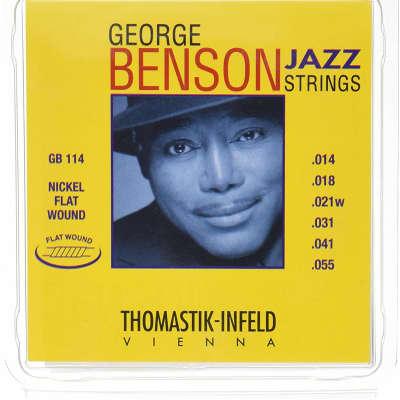 Thomastik-Infeld GB114 George Benson Jazz Strings Nickel Flat-Wound Guitar Strings - Heavy (.14 - .55)