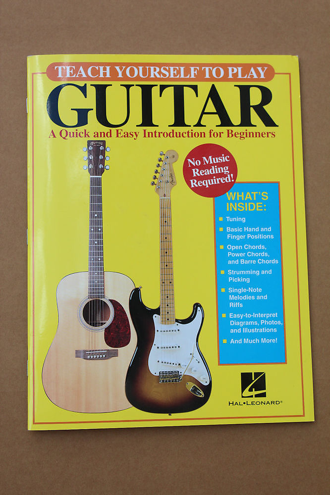 Teach Yourself To Play Guitar Quick Easy Beginner Instruction Hal