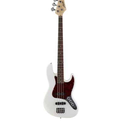 AUSTIN AJB300WH JAZZ BASS STYLE ELECTRIC BASS WHITE for sale