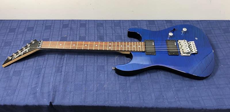 jackson dinky blue electric guitar reverse headstock floyd reverb. Black Bedroom Furniture Sets. Home Design Ideas