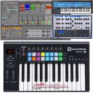 Novation LaunchKey 25 MkII Usb MIDI Keyboard Controller Production Bundle