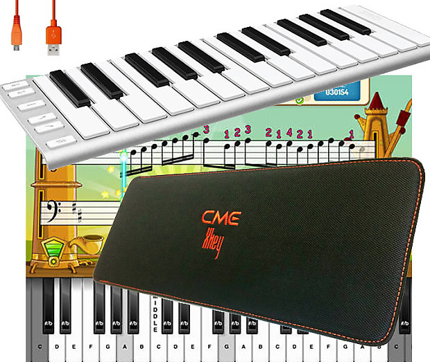 CME XKey 25 USB MIDI Keyboard with Travel Sleeve and Cable