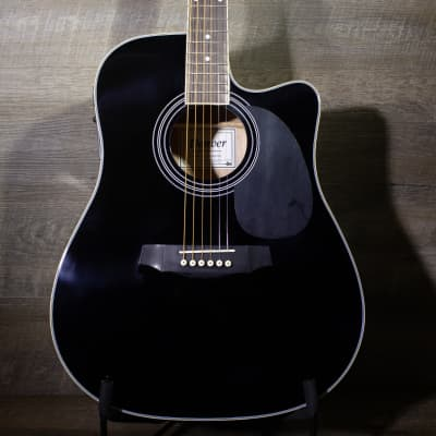 Denver DD44SCE - Full Size Acoustic/Electric Black for sale