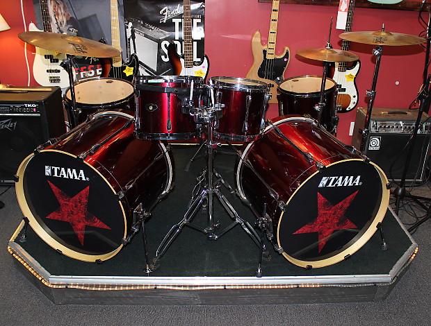 Tama SuperStar Double Bass Drumset 2012 Deep Wine Red