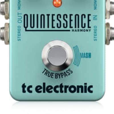 TC Electronic 960827001 QUINTESSENCE HARMONIZER, Exceptional Dual-Voiced Intelligent Harmonizer with PolySense and Groundbreaking MASH Footswitch