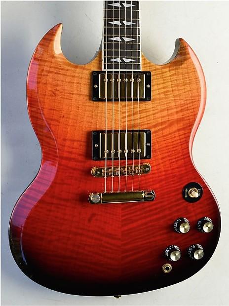 2005 Gibson SG Supreme Lava Burst ~MINT~ Deluxe Custom Color   Reverb