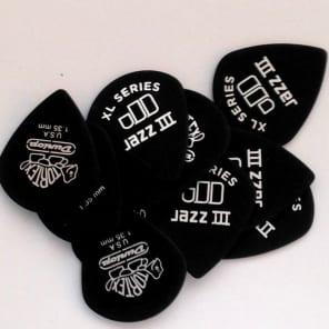 Dunlop Guitar Picks  Jazz III XL  12 Pack  1.35 MM  (498P1.35)