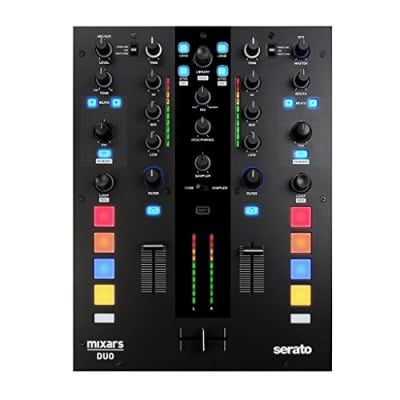 Mixars DUO MKII 2 Channel Battle Sytle Mixer for Serato DJ Includes Serato DJ + DVS Enabled