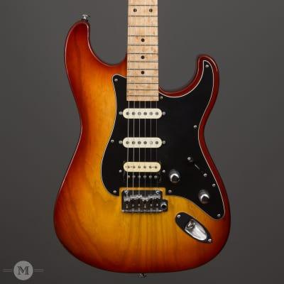 GJ2 Guitars - Glendora NLT -  HSS - Cherry Sunburst - Birdseye Maple Neck - Used for sale