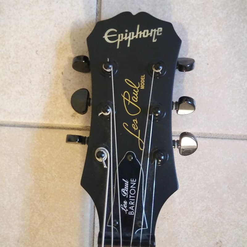 epiphone les paul baritone custom with upgrades reverb. Black Bedroom Furniture Sets. Home Design Ideas