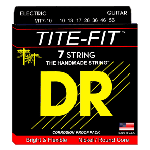 DR MT7-10 Tite Fit 7-String Guitar Strings - Medium (10-56)