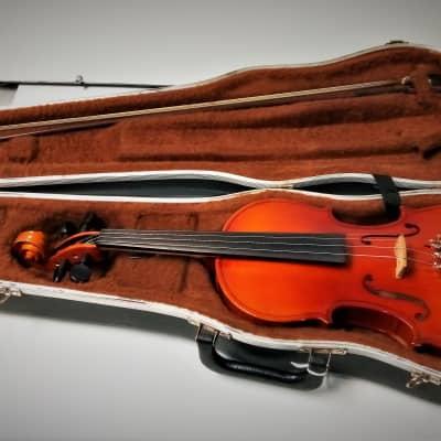 Glaesel 3/4 Size Student Violin VI401E3 Stradivarius Copy Case/Bow Ready To Play