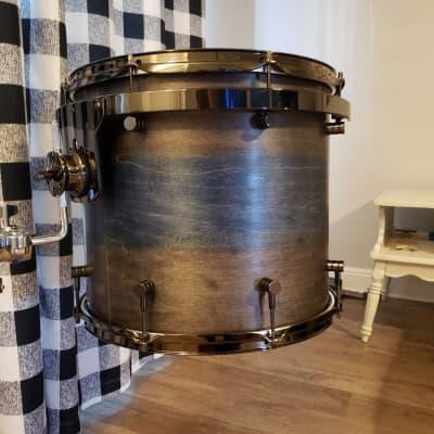 Homefront Custom Drums 14x16 All Maple Tom 2020 Worn Barnwood/Sapphire Heart
