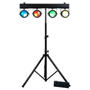 American DJ DOTZ-TPAR-SYSTEM (4x) Par Lights w/ Bar Stand, Foot Controller