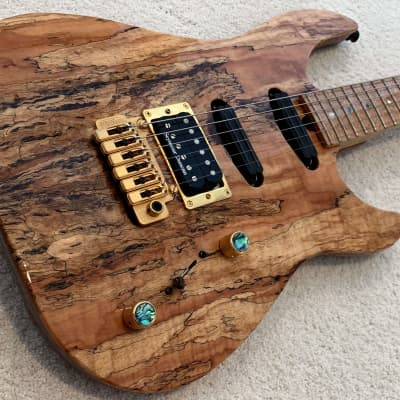 Brian Moore USA Custom Shop 1998 Natural Spalted Maple Top for sale