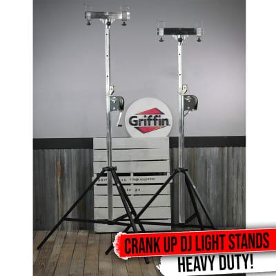 Crank Up Truss Lighting Stands T-Adapter Support Stage Light Mount Speaker PA DJ