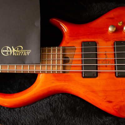 2005 Warrior Adam Nitti Signature 5-String Bass, Orange Wood, Bartolini Pickups, Croc Skin Hard Case