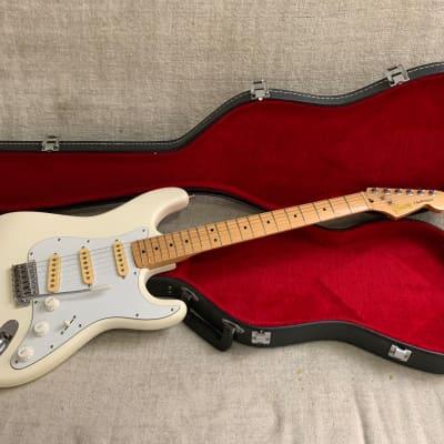 Vintage 1977 Ibanez Challenger Strat 2575WH White Finish Fujigen Japan Original Very Good Condition + Hard Case for sale
