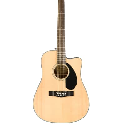 Fender CD-60SCE Dreadnought 12-string, Walnut Fingerboard, Natural Acoustic/Electric Guitar for sale