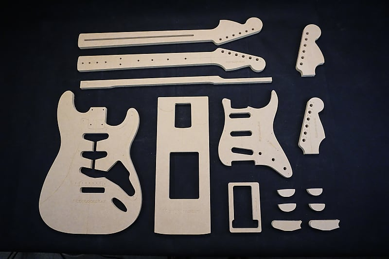 Updated Guitar Templates Stratocaster Poly Coated Reverb