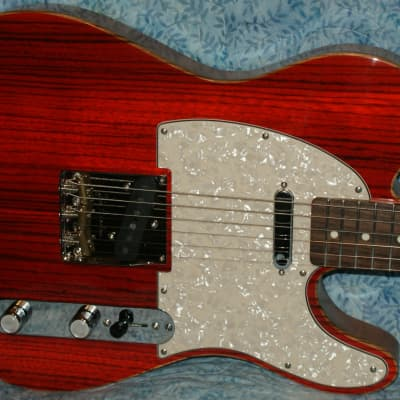 VZ Custom Guitars Trans Red Zebrawood Top T-Type w/Gig Bag