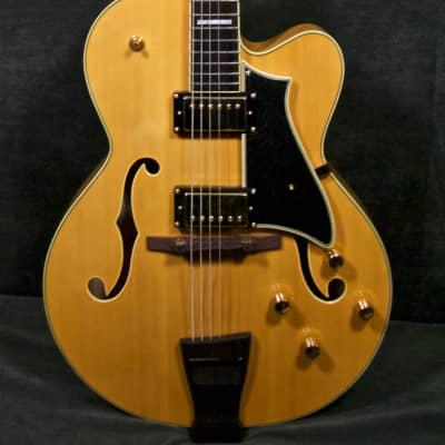 Peerless Tonemaster Blonde Hollow body Guitar w case #5384