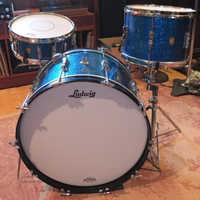 """Ludwig No. 998 Club Date Combo Outfit 9x13 / 14x22"""" Drum Set 1960s"""
