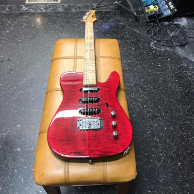 PBC / Bunker USA American Nashville Style Tele (Flame Red) 3 Pickups for sale