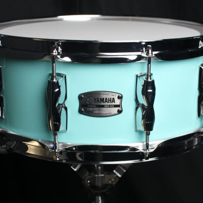 "Yamaha Recording Custom 5.5x14"" Surf Green Snare Drum (video demo)"